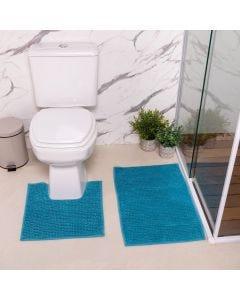 Jogo de Banheiro 2 peças Dobby Finecasa - Azul