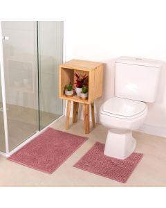 Jogo De Banheiro 2PCS Dobby - Rose