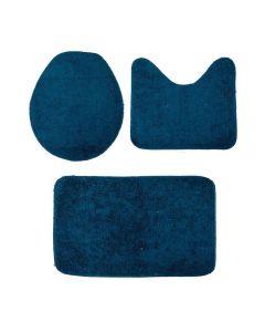 Jogo De Banheiro Algodão Color Pop 3 Peças - Azul