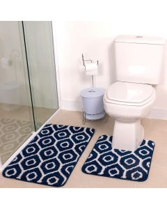 Jogo de Tapete para Banheiro Ibiza 02 Peças Havan - Azul