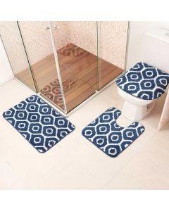 Jogo de Tapete para Banheiro Ibiza 03 Peças Havan - Azul
