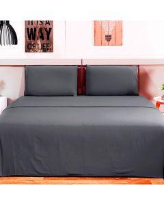 Jogo de cama Queen 4 peças Loft Camesa - Cinza
