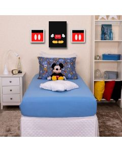 Jogo de Cama Solteiro 2 peças Disney Havan - Turma do Mickey