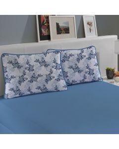 Jogo de Cama Solteiro 2 peças Malha Slym - Marlin Azul