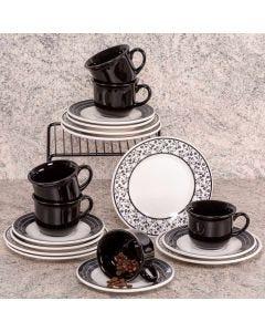 Jogo de Chá 18 Peças Biona - Arabescos