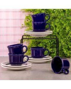 Jogo de Chá Colb 12 peças Biona - Azul