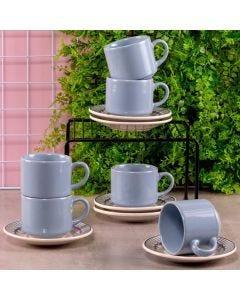Jogo de Chá Donna Oxford 12 peças - Azul