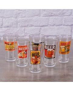 Jogo de Copos Botecos 6 Peças Decormartin - Beer