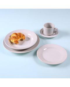 Jogo de Jantar Cerâmica 20 peças Donna Oxford - Branco