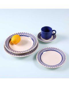 Jogo de Jantar Cerâmica 20 peças Donna Oxford - Azul