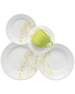 Jogo de Jantar Cerâmica 20 peças Donna Oxford - Verde Claro