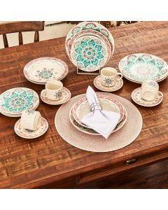 Jogo de Jantar Cerâmica 20 peças Donna Oxford - Perola