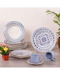 Jogo de Jantar Cerâmica 20 peças Donna Oxford - Azul Claro
