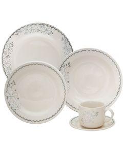 Jogo De Jantar Cerâmica 20 Peças Donna - Angelica