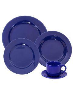 Jogo De Jantar Donna Azul 20 Peças Oxford - Cerâmica