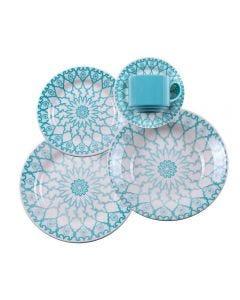 Jogo De Jantar Donna Mandala 20 Peças - Cerâmica