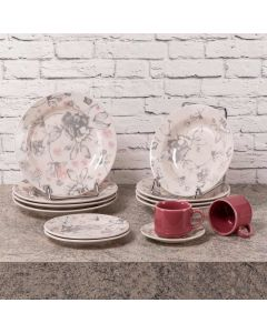 Jogo de Jantar e Chá Donna Clara 20 peças Oxford - Cerâmica