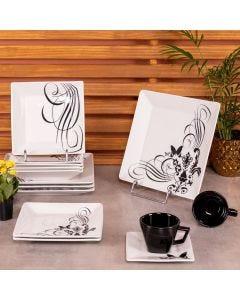 Jogo de Jantar Tattoo Quartier 20 peças Oxford - Porcelana