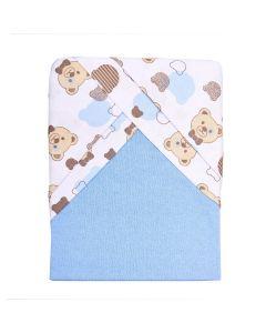 Jogo de Lençol 70x130cm com 02 Fronhas Yoyo Baby - Ursinho Azul