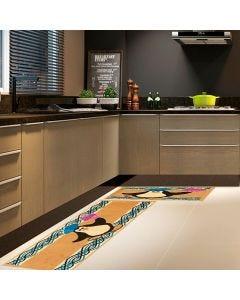 Jogo de Tapete para Cozinha Renaissance 2 Peças - Azul