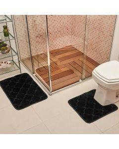 Jogo de Tapete para Banheiro Miami 02 Peças Solecasa - Petroleo