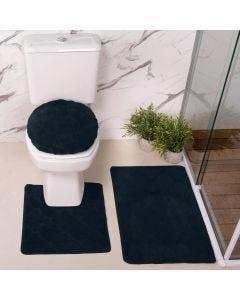 Jogo de Tapete para Banheiro Miami 03 Peças Solecasa - Petroleo
