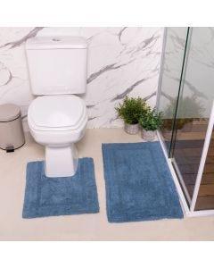Jogo de Tapetes de Banheiro 2 Peças Arezo Havan - Indigo