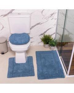 Jogo de Tapetes de Banheiro Arezo 3 Peças Havan - Indigo