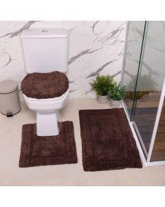 Jogo de Tapetes de Banheiro Arezo 3 Peças Havan - Chocolate