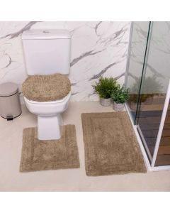 Jogo de Tapetes de Banheiro Arezo 3 Peças Havan - Taupe