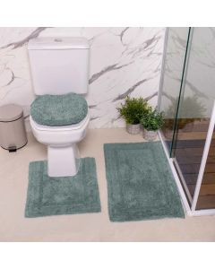 Jogo de Tapetes de Banheiro Arezo 3 Peças Havan - Azul Retro