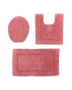 Jogo De Tapetes De Banheiro Arezo 3 Peças Havan - Rose