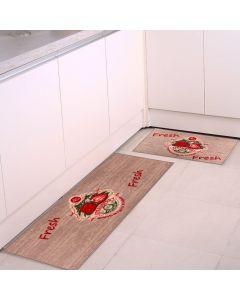 Jogo De Tapetes Para Cozinha 2 Peças Napoli - Fresh Taupe