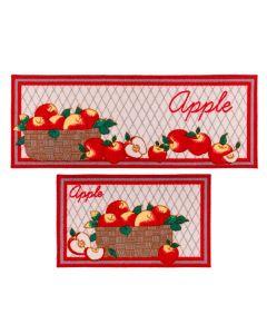 Jogo De Tapetes Para Cozinha 2 Peças Napoli - Apple