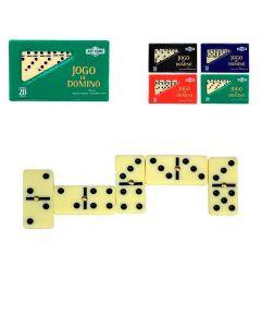 Jogo de Dominó 4,8 x 2,3 10mm 28 Peças Art Brink - Bege