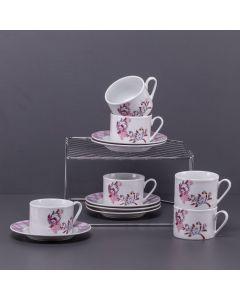 Jogo Para Chá De Porcelana 12 Peças Finecasa - Alice