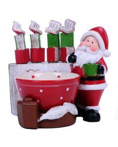 Jogo Para Patê Papai Noel 6 Peças Santini - Vermelho