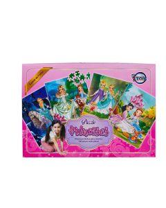 Jogo Puzzle Das Princesas Com 100 Peças Rbk - 12139
