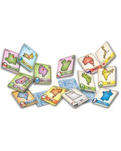 Kit Jogos da Memória Memo Brasil e Mundo Toia - Azul