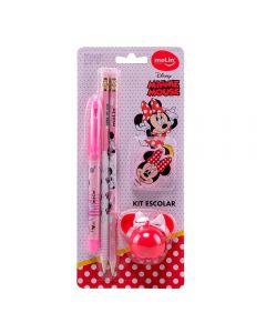 Kit Básico Escolar 5 peças Minnie Mouse Molin - 22330