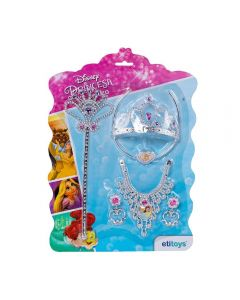 Kit Beleza Tiara Das Princesas Com 6 Peças Disney - DY-654