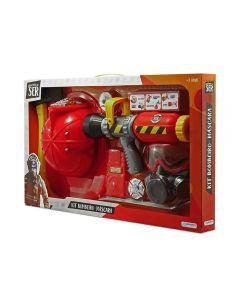 Kit Bombeiro com Máscara Multikids - BR962 - Vermelho