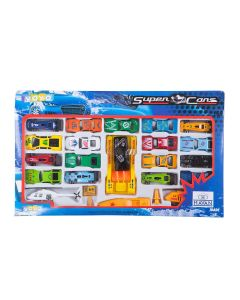Kit Carrinho Super Cars com Helicóptero Yoyo Kids - Sortido