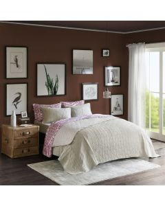 Kit Colcha Queen Urban Home Design - Ceres Taupe