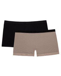 Kit com 2 Calcinhas Feminina Adulto Boxer Seamless Del Rio D1