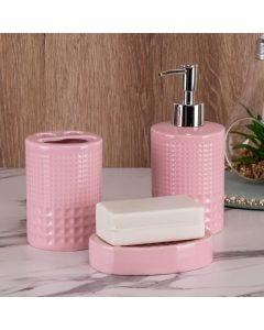 Kit de Banheiro 3 Peças Finecasa - Rosa
