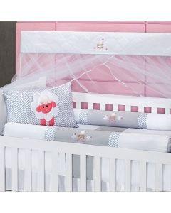 Kit De Berço 9 Peças Light Yoyo Baby - Ovelhinha