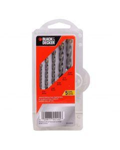 kit de Brocas para Concreto BD0090CS Black And Decker - 5 Peças