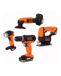 Kit de Ferramentas 12V BDCK502C1 Gopak Black And Decker - Bivolt