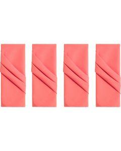 Kit de Guardanapos 4 peças Liso Home - Coral